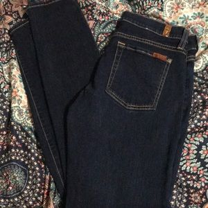 7 for all mankind skinny jeans size 30